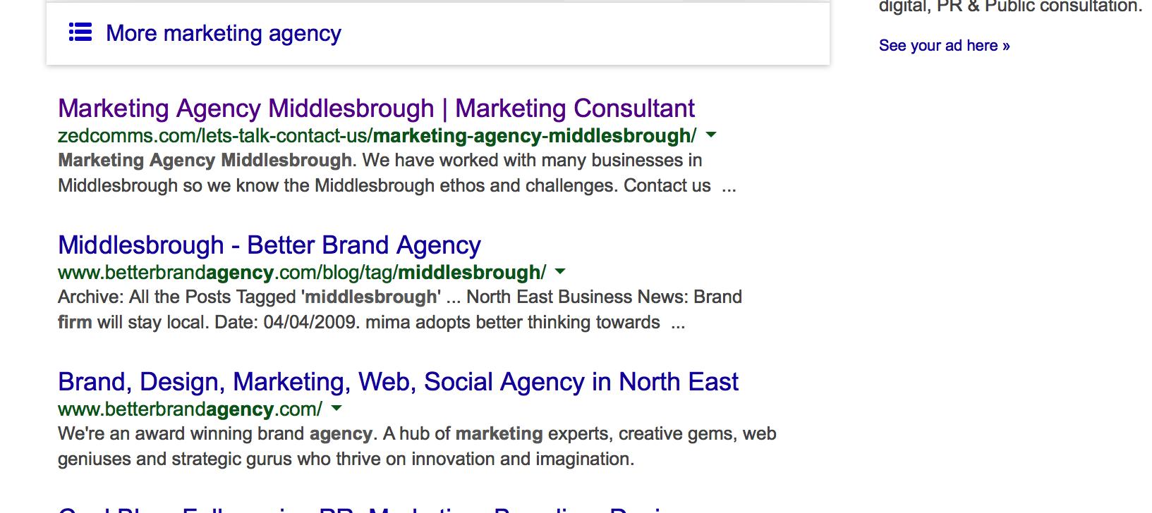 SS Marketing agency Middlesbrough