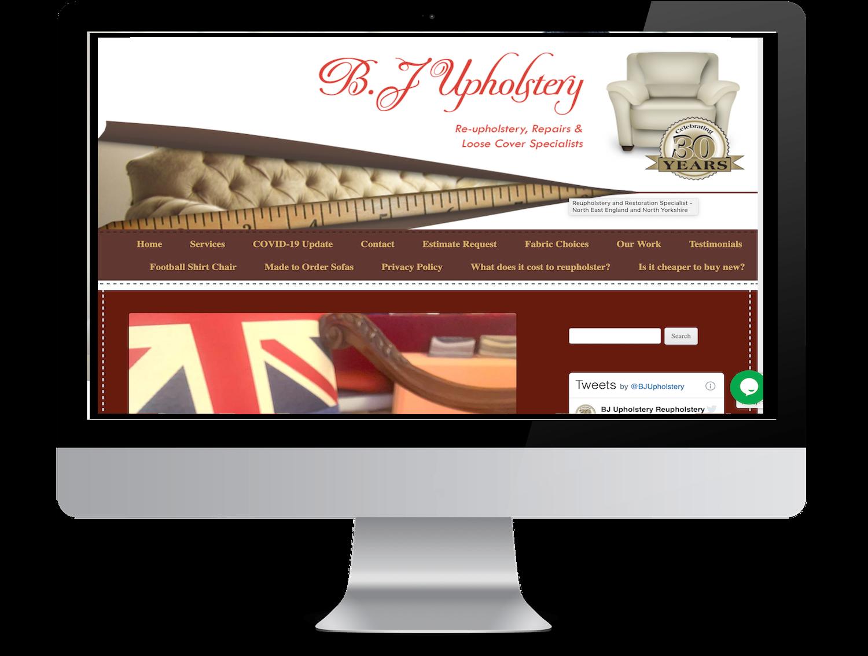 Website for upholsterer